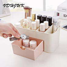 VDHJUK 2017 new European makeup organizer storage box multipurpose candy color office sundries cosmetic drawer container