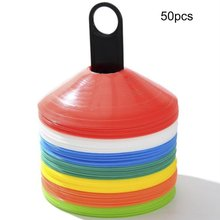 50pcs/SetSoft Disc Football Training Sign Dish Pressure Resistant Cones Marker Discs Marker Bucket PVC Sports Accessories HOT(China)