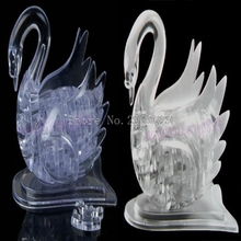 3D Crystal Puzzle Jigsaw Model DIY Swan IQ Toy Gift Souptoy Furnish Gadget -B116(China)