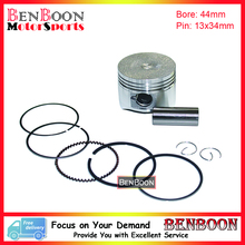 GY6 60cc 44mm Piston and Ring Kit for 4T 139QMA/QMB Chinese Scooter Parts ATV Parts Znen Baotian Taotao Icebear UM Free Shipping(China)