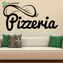 Pizzeria Wall Decal Vinyl Stickers Pizza Restaurant Interior Design Art Murals Decor Kitchen Cocina Home Decals Poster A82