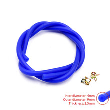 Free Shipping New Silicone Vacuum Hose /Tube Silicone Pipe ID:4mm OD:9mm Include Clamp YC100569