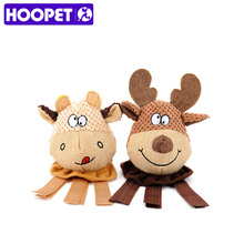 HOOPET Dog Chew Toy Elk Calf Interactive Training Puzzle Funny Sound Toys Signature Cotton(China)