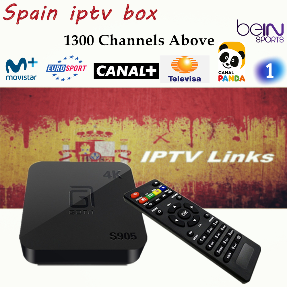 GOTiT Android TV Box IPTV Amlogic S905 Quad Core Android 5.1 1GB RAM 8GB ROM Support 4K H.265 Spain English Franch IPTV BOX