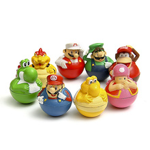 The Last explosion models of Super Mario Brothers, Mario Ornaments, Dolls, hand to do a Mini Swiss roll Baby/children's toys(China)