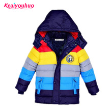 Children Jackets Boys Girls Winter down coat 2017 Baby Winter Coat Kids warm outerwear Hooded Coat for 2-7 yrs Children Clothes