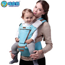HappyBear Multifunction Baby Carrier Backpack Front Opening Mesh Breathable Sling For Baby Chicco Wrap Rider Canvas 1601(China)