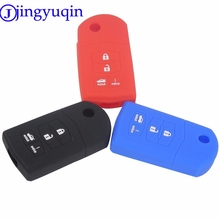 jingyuqin 10ps Remote 3/4 Buttons Car Key Silicone Cover Case For Mazda 2 3 5 6 8 Atenza CX5 CX-7 CX-9 MX-5 RX Protection(China)