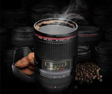 PHOTO LIFE New Canon sixth Generation Stainless Steel Coffee Creative Lens Tea 400ml Mugs Emulation Camera Mug Cup