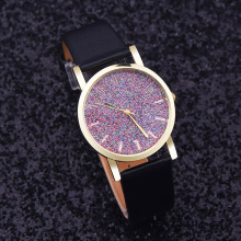 Watch Women Watches Relogio Feminino Reloj Mujer imitate diamond design luxury brand leather rhinestone quartz dress Clock