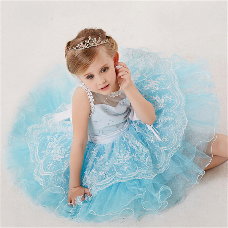 Baby Girls Princess Lace Dress Embroidery Style Children Snow White Dress Kids Infant Performance Beauty Dress Girls Costume<br>