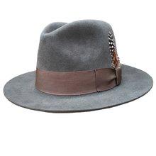 Clásico de lujo Angora sombrero Fedora de lana sombrero negro gris marrón (China) 8506af45cb7