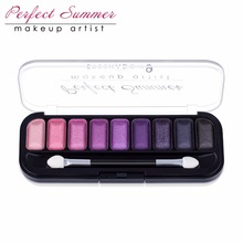 Perfect Summer 9Color Eye Shadow Makeup Shimmer Matte Eyeshadow Earth Colorful Eyeshadow Palette Cosmetic Makeup Set Eye Shadow(China)