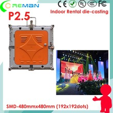 Wholesale price p2.5 full color led rental display smd , P2 P1 P3 HD rgb video panel led customized ,CE UL certified led tv wall(China)
