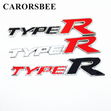 CARORSBEE 3D metal TYPER TYPE R Racing Emblem Badge Decal Car stickers Auto styling accessories For rav4 yaris camry 2007 2008
