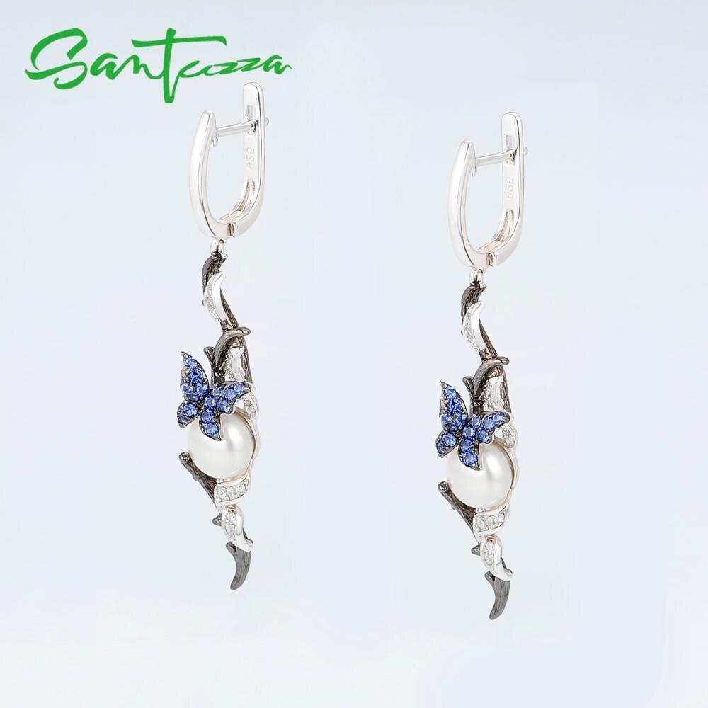 E307634BNFZSK925-SV4-Silver Earrings