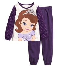 New kids Girls pajamas sets Princess pyjamas kids pijama infantil sleepwear home clothing cartoon cotton Baby pijama 2-7Y(China)