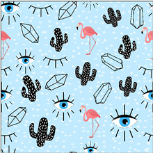 LEO&LIN Light Blue Eyes Cactus Vintage Clothing red Flamingo Polyester Chiffon Patchwork For DIY Sewing Design Tissus Fabric(China)