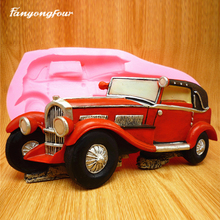 Car Cake Mold Silicone Mold Chocolate Gypsum Candle Soap Candy Mold Kitchen Bake Free Shipping