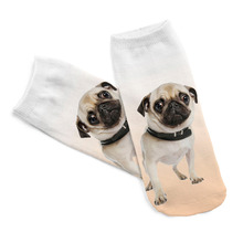 3D Printed Men Cotton Socks Kids Pugs Printed Casual Style Low Anklet Socks For Women Calcetines Chaussettes(China)
