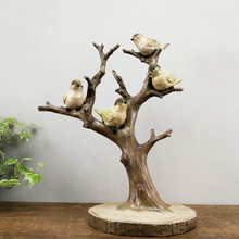 Handmade Vintage Birds On Tree Jewelery Rack Creative Ornaments Crafts Home decors Wedding Gifts