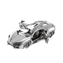 3D metal puzzle 3D Metallic Laser Cut Model hypersports racing car Adult Toys gift for kids