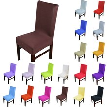 1pcs Solid Color Stretch Home Decor Dining Chair Cover Spandex Decoration covering Office Banquet Hotel chair Covers 43002(China)
