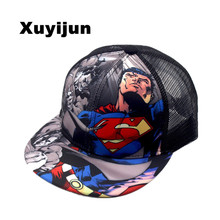 2016 Batman VS Superman fashion brand children's casual mesh cap hip-hop cap baseball cap adjustable rapid bone bomb cap