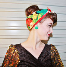 women vintage 50s alexander henry tropical hawai print rockabilly pin up hair accessories bandana bandeau cheveux scarf cheveux