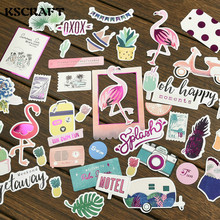 35pc Flamingo Cardstock Die Cuts for Scrapbooking Happy Planner/Card Making/Journaling Project