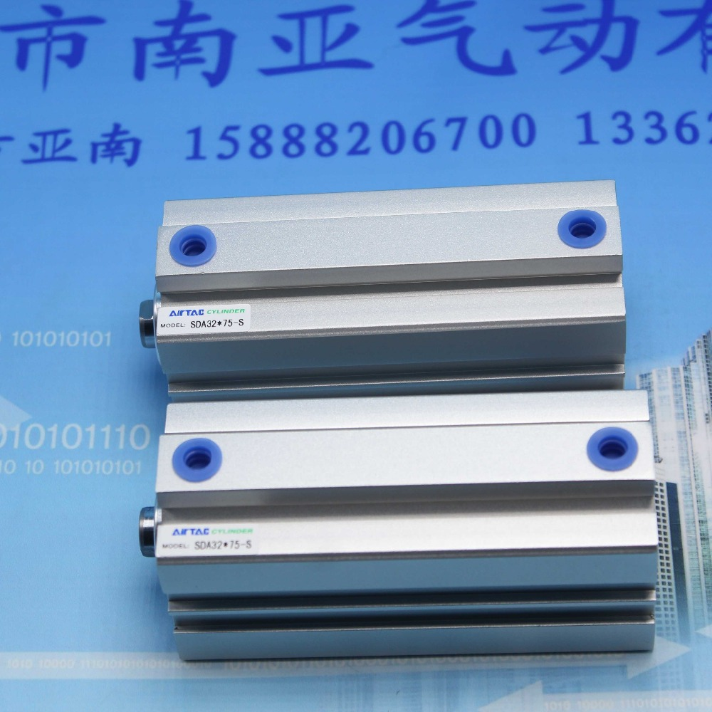 SDA32*75-S AIRTAC Thin type cylinder air cylinder pneumatic component air tools diameter 32mm<br><br>Aliexpress