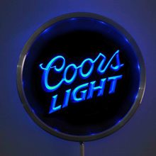 rs-a0012 Coors Light Beer LED Neon Round Signs 25cm/ 10 Inch - Bar Sign with RGB Multi-Color Remote Wireless Control(China)