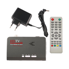 HD 1080P With VGA/ Without VGA Version DVB-T2 TV Box AV CVBS Tuner Receiver with Remote Control Compatible With CRT and LCD(China)
