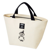 Kawaii Cartoon Embroidered Moomin Littly My Lunch Zipper Bag Women Tote Bag 21.5*14*8CM Kids Christmas Gifts brinquedos