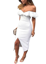 Summer Wrap Dress Women Bodycon Midi Dress Ruffles Short Sleeves Heart Neck Bandage Padded Cut Out Front Wedding Party Dresses(China)