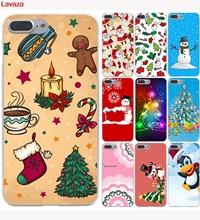 Lavaza New Year Gifts Christmas Tree Snowman Hard Case for iphone 4 4s 5c 5s 5 SE 6 6s 6/7/8 plus X for iphone 7 case(China)