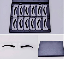 12 Shaping Brow Line Version Stencil Template For Permanent Makeup Eyebrows Design 3D  Inkpad Eyebrow Tattoo Stencils Kits