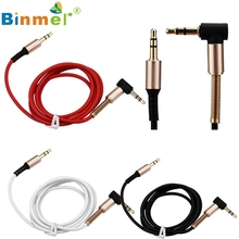 Levert Dropship Binmer 3.5mm Jack Elbow Male to Male Stereo Headphone Car Aux Audio Extension Cable Best 90 Degree Design