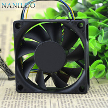 NANILUO Free Shipping DA07020T12U 7CM 70mm cpu case cooling fans 7020 DC 12V pwm tempreture cooler(China)