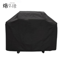 3 Sizes Black Waterproof Bbq Cover Outdoor Rain Barbecue Grill Protector For Gas Charcoal Electric Barbeque Grill(China)