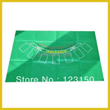 ZB-009-2 Non-woven fabric Texas Holdem Table Cloth for Blackjack 60x90cm(China)