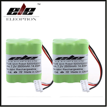 Newest High Quality 2x Eleoption 7.2V 2500mAh Ni-MH Vacuum Battery For Mint Robot 5200 5200C Floor Cleaner