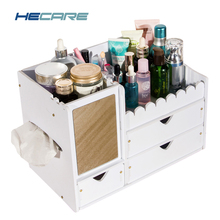 2017 New Upgrade Makeup Organizer PVC Waterproof Plastic Box Bathroom Rangement Cosmetic Organizador For Cosmetics Storage Tool