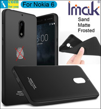 imak Frosted Sand Case Cover For Nokia 6 TPU Silicone Matte Skin Protector Anti-fingerprint + Soft Film