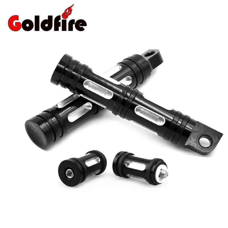 1 Set Deep Cut Motorcycle Footrest Pedal Foot Pegs And Gear Shifter Peg For Harley Sportster Touring Dyna Softail Custom 2 Color<br>
