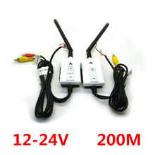 2.4GHz Wireless AV Cable Transmitter and Receiver For Bus Car Video Monitor Truck Reversing Rear View Backup Camera 200m Range