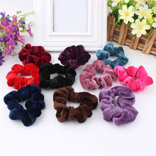 5PCS Women Velvet Hair Scrunchies Elastic Spring Hair Bands Ties Ponytail Holder Hair Accessories Women Girls Head Bands 001