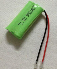 Free shipping 2pcs/lot 2.4V AAA NI-MH nimh battery pack rechargeable battery Composite aircraft battery