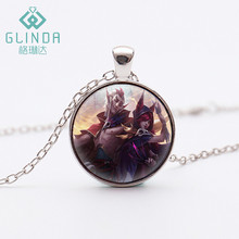 Glinda League of Legends Charmer Rakan Black Necklace LOL Xayah Rebel Silver Plated pendant Cosmic Dawn Rakan Skins Jewellery