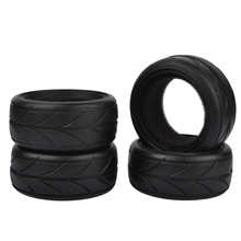 4pcs/set 1/10 Soft On-road Car Tire With Sponge Liner for 1:10 Traxxas HSP Tamiya HPI RC On Road Drift Model Car wheels(China)